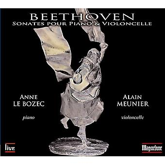 Beethoven / Meunier / Le Bozec - Beethoven / Meunier / Le Bozec: komplet Sonate for Klaver & Cello [CD] USA import