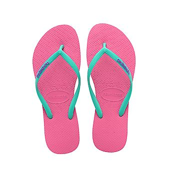 Women's Slim Logo Flip Flop - Shocking Pink