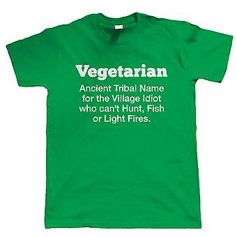Vegetarische Mens grappig T Shirt