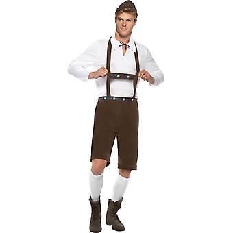 Bayrisches Trachten Herren  Kostüm Lederhose Optik
