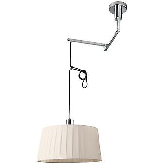 Wellindal Articulated 1xE27 pendant chrome and cream