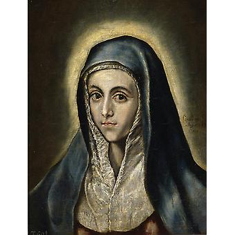 El Greco - Virgin Mary Poster Print Giclee