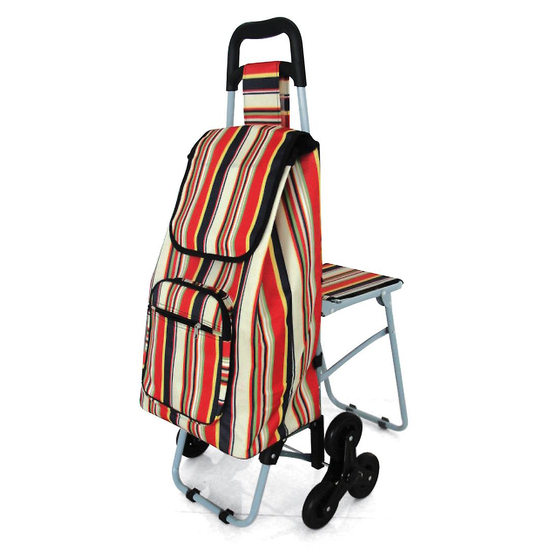 Leisure Trolley with Seat - Triple Wheel