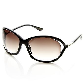 Moda para mujer de gran tamaño cortada en gafas de sol templo