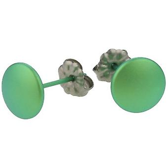 Ti2 Titanium Smartie Stud Earrings - Fresh Green