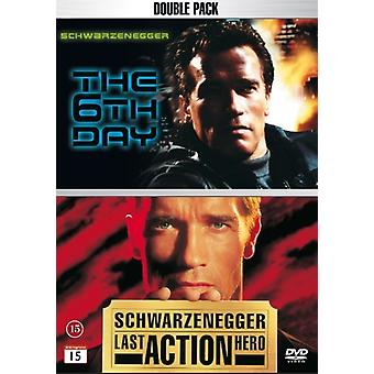 Den 6th Day & sidste actionhelt Double Pack (DVD)