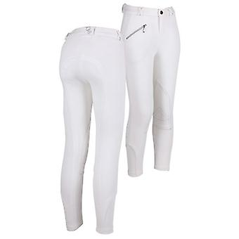 QHP Pants Junior White (Pferde , Reiter-outfit , Kleidung , Hose)
