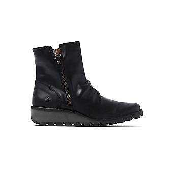 Women's Mong Boots - Black Leather