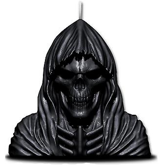Wax reaper with skull - scented candle with metal sculpture inside - lavender scented