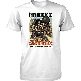 WW2 Poster de Propoganda militar Estados Unidos - que necesitan alimentos - para hombre T Shirt