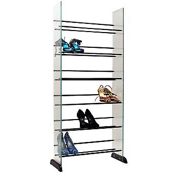 Garde - 6 Tier 18 Pair Glass Shoe / Boot Storage Shelves