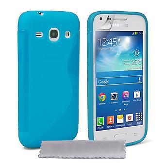 Caseflex Samsung Galaxy Core Plus siliconen Gel S-Line Case - blauw