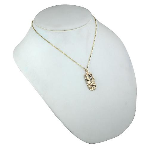 9ct Gold 33x17mm Gemini Zodiac Pendant with a belcher Chain 18 inches