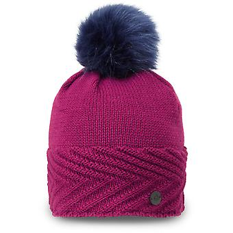 Craghoppers Womens/Ladies Maria Knitted Faux Fur Beanie Bobble Hat