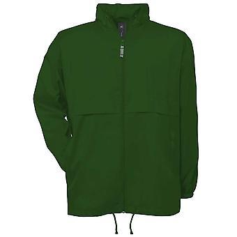B&C Mens Air Windbreaker waterproof foldaway lined jacket