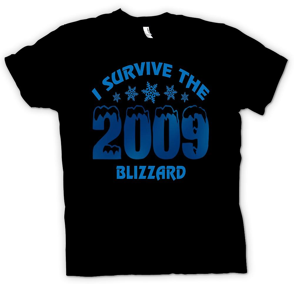 Mens T-shirt - I Survive The 2009 Blizzard - Funny