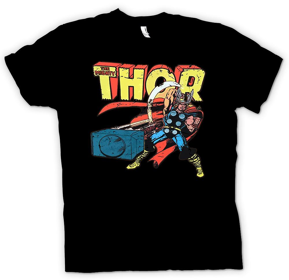 Kids T-shirt-The Mighty Thor In actie