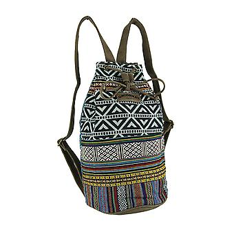 Unionbay Tribal Stripe Boho Triangles Bucket Backpack