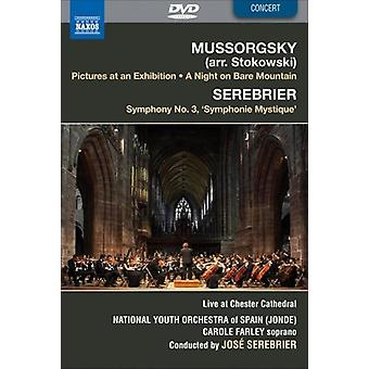 Musorgskiego: Obrazki z wystawy; Noc na gołej góry; Serebrier: Symfonia nr 3 [DVD Video] [DVD] USA import