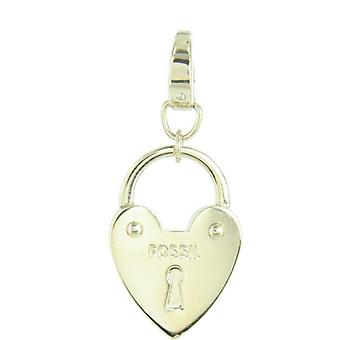Fossil pendants charms JF00033710 Castle gold
