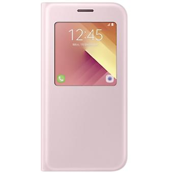 Samsung S view wallet pouch cover EF CA520 for Galaxy A5 A520F 2017 pink