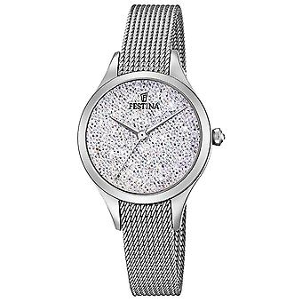 Festina Womens Mademoiselle Stainless Steel Mesh Swarovski Dial F20336/1 Watch