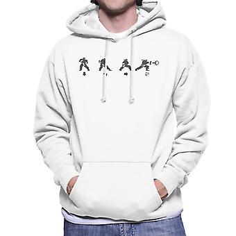 Street Fighter Ryu Hadouken Move Men's Hooded Sweatshirt