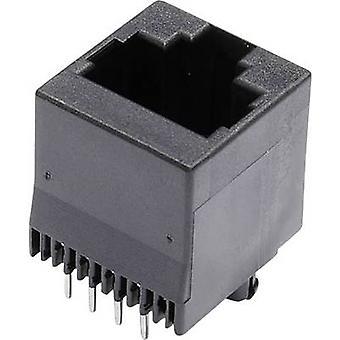 Modulära monterade socket Socket, vertikal vertikal antal stift: 8 MJTN88A svart econ ansluta MJTN88A 1 dator