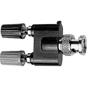 Test lead adapter BNC plug - 4 mm socket, 4 mm socket Telegärtner J01008A0627 Black, Red