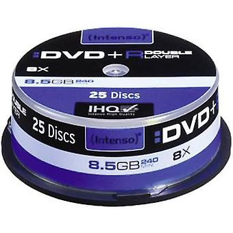 Blank DVD+R DL 8.5 GB Intenso 4311144 25 pc(s) Spi