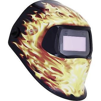 Welders hard hat Black, Flame SpeedGlas 100V Blaze H751220 EN 379 , EN 166 , EN 175 , EN 169