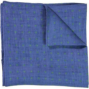 40 Colori Dotted Pocket Square - Jeans Blue/Green