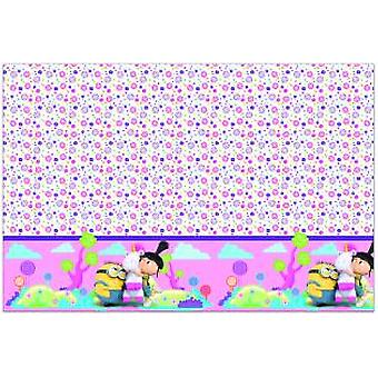 Fluffy minions party tablecloth of minions Unicorn party Ø 23 cm Kids Birthday 1 piece