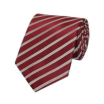 Tie tie tie tie 8cm dark red red Fabio Farini white striped