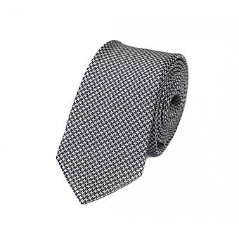 Amarrar a gravata gravata gravata cinza branco 6cm Pepita padrão Fabio Farini