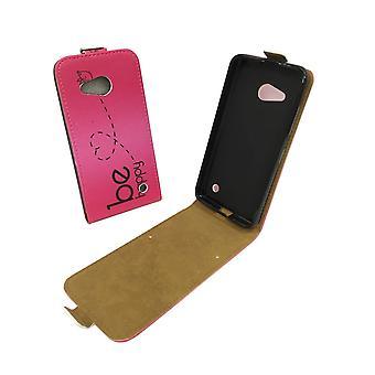 Handyhülle Tasche für Handy Microsoft Lumia 640 Be Happy Pink