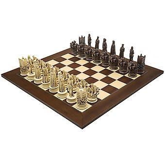 The Berkeley Chess Elizabethan Russet and Palisander Grand Chess Set