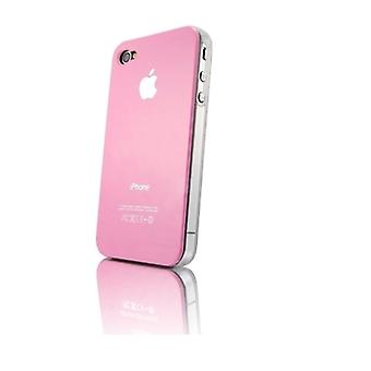 IPhone 4 & 4S Hard Plastic Cover Back Case with Apple Logo - Pink