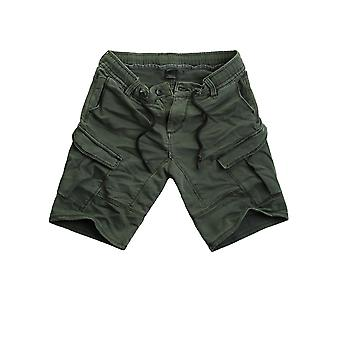 Urban surface men's cargo sweat denim pants of shorts Green