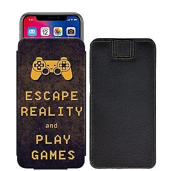 Quotes Escape Reality and Play Games Custom Designed Printed Pull Tab Pouch Phone Case Cover for verykool s5205 Orion Pro [S] - Q05_web