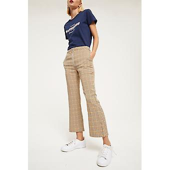 Ghospell Check Kickflare Trousers
