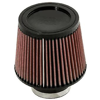 K&N RU-5176 Universal Clamp-On Air Filter: Round Tapered; 3 in (76 mm) Flange ID; 5 in (127 mm) Height; 6 in (152 mm) Ba