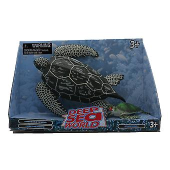 Deep Sea World 2 Pack voksen og Baby, grønn skilpadde