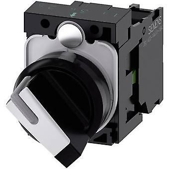 Bouton avant anneau noir (PVC), blanc 1 x 90 ° Siemens SIRIUS ACT 3SU1100-2BF60-1BA0 1 PC (s)