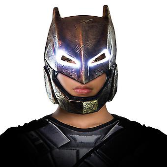 Opancerzony Batman v Superman Dawn z sprawiedliwości Mens strój Light-Up maska superbohatera