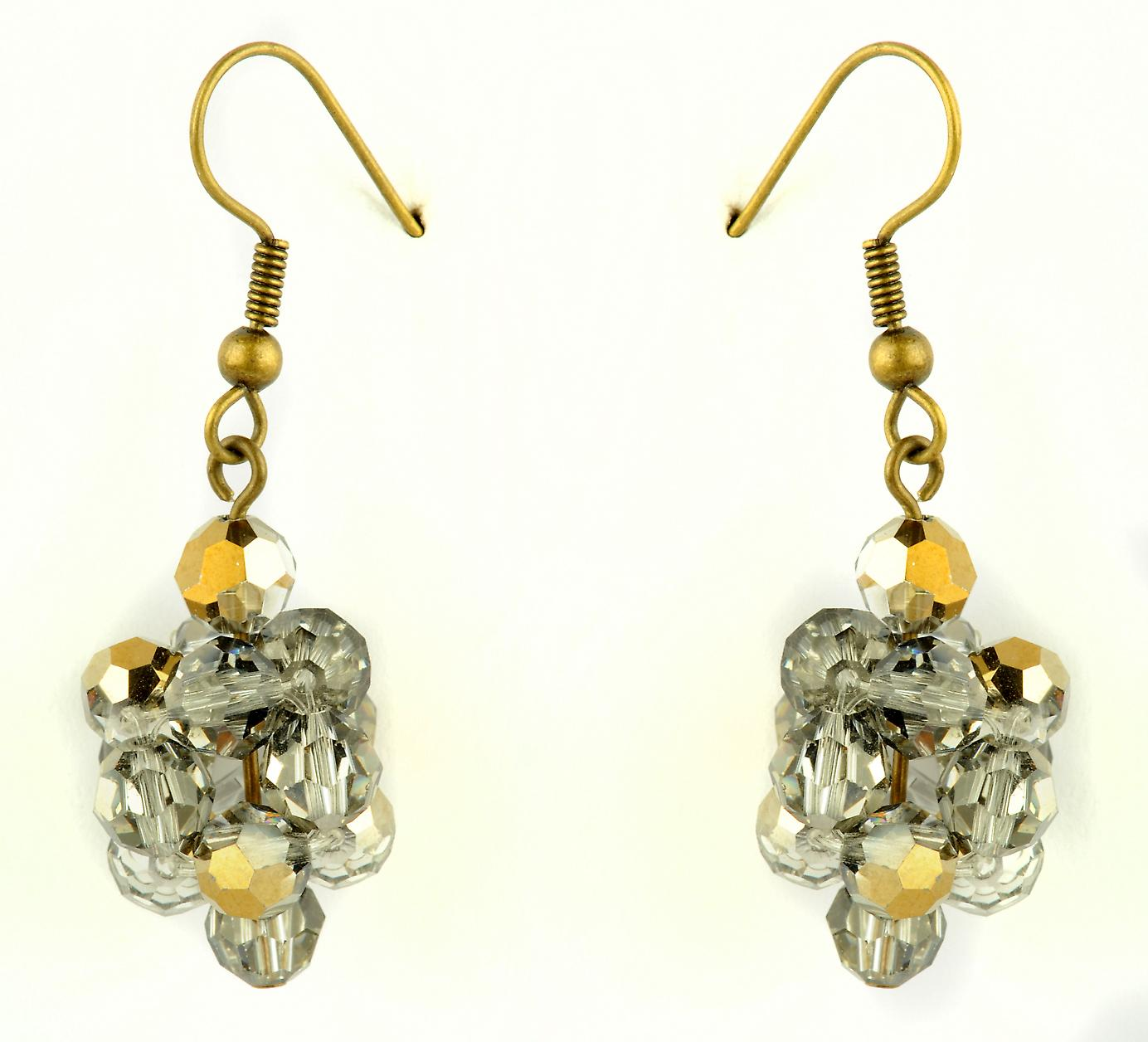 Waooh - Fashion Jewellery - WJ0783 - D'Oreille earrings with Swarovski Strass White Style Diamond - Frame Colour Gold