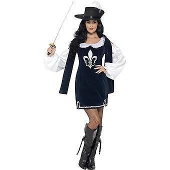 Moschettiere Costume femminile, UK 8-10