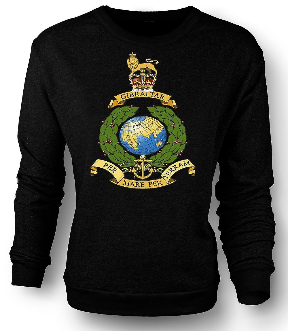 Mens Sweatshirt, Royal Marine Logo - par jument, par Terram