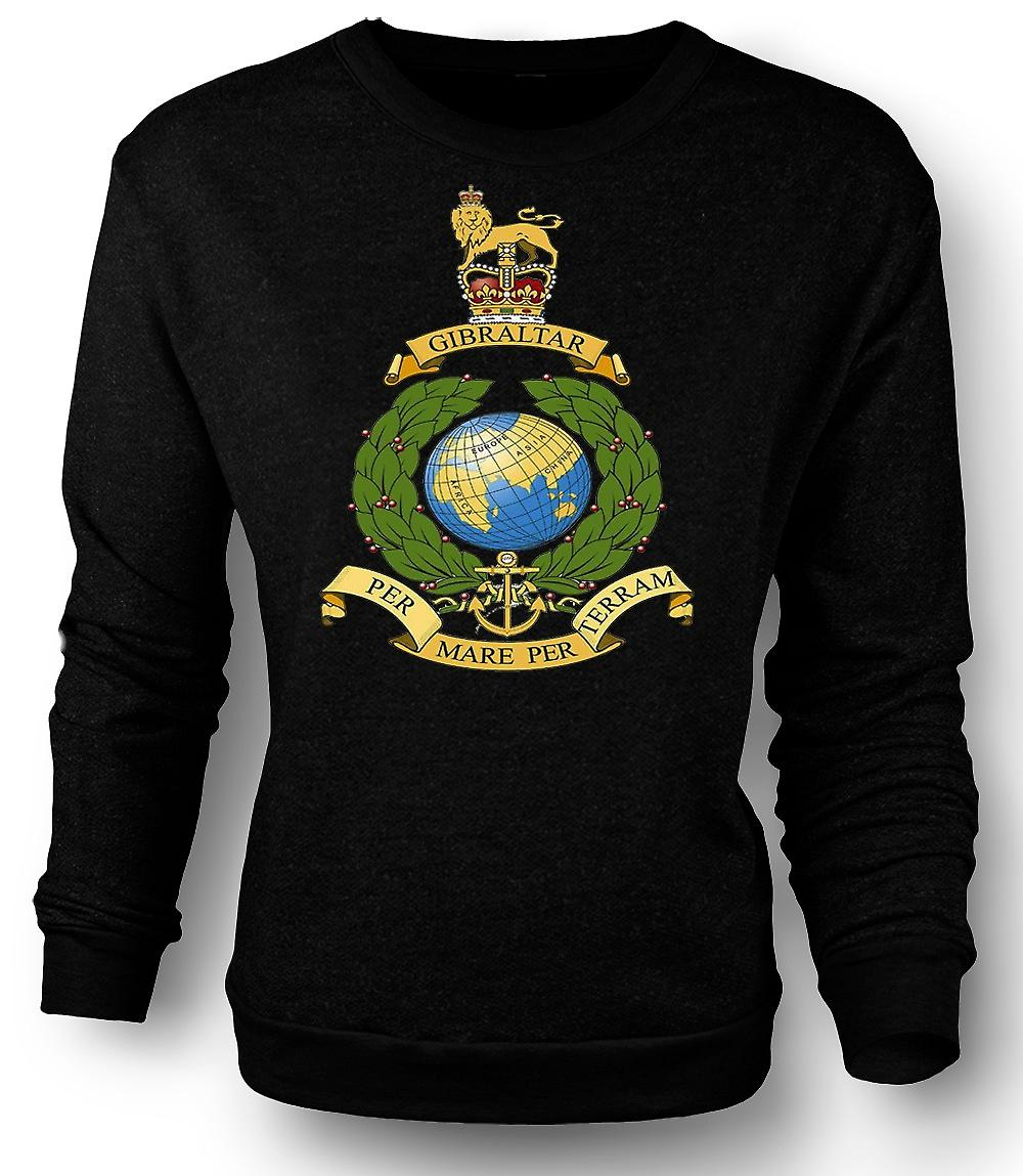 Mens Sweatshirt Royal Marine Logo - Per Mare Per Terram