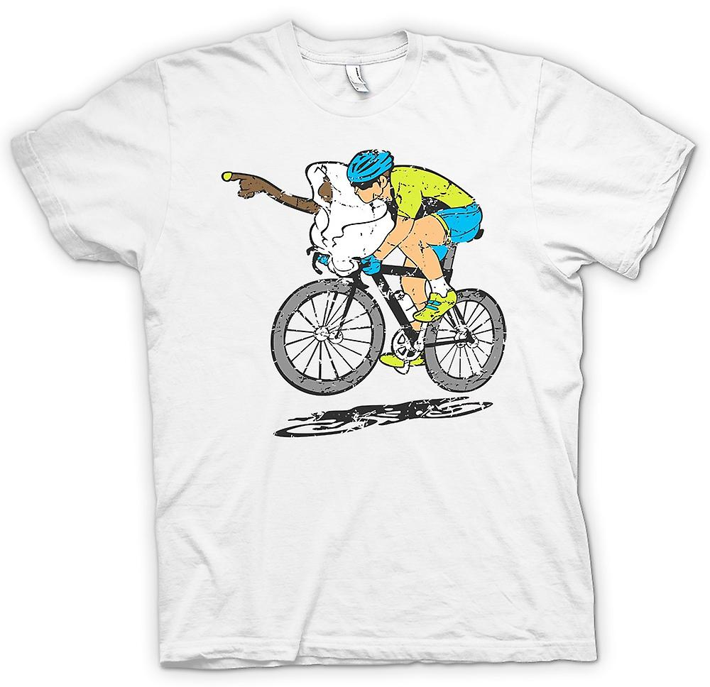 Womens T-shirt - ET and Tour De France Cyclist - Go Home